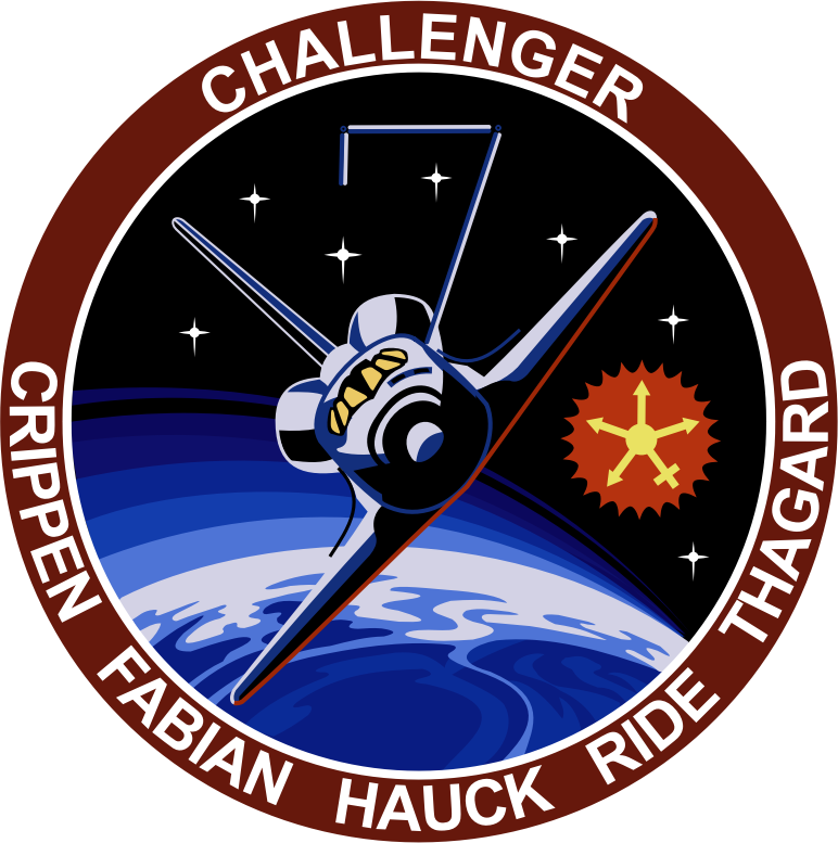 STS-7 Patch by NASA - Public Domain Source http://commons.wikimedia.org/wiki/File:STS-7_patch.svg